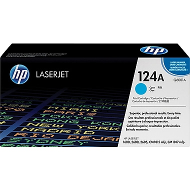 HP 124A (Q6001A) Cyan Original LaserJet Toner Cartridge