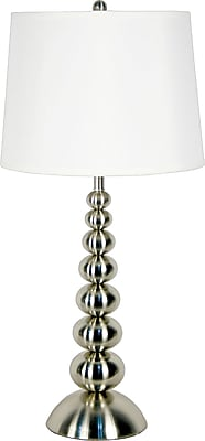 Kenroy Home Baubles Table Lamp, Brushed Steel Finish