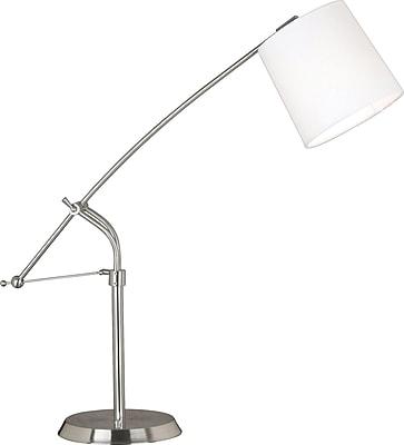 Kenroy Reeler Incandescent Desk Lamp, Brushed Steel