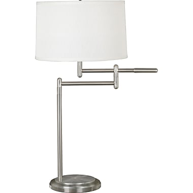 Kenroy Theta Incandescent Table Lamp, Brushed Steel