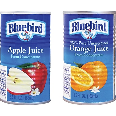 Bluebird 100% Juice, 5.5 oz. Cans, 48/Case