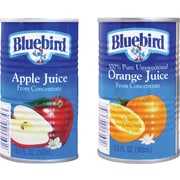 Bluebird 100% Orange Juice, 5.5 oz. Cans, 48/Case
