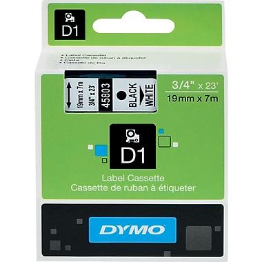 DYMO® - Ruban d'étiquettes D1, 19 mm (3/4 po), noir sur blanc