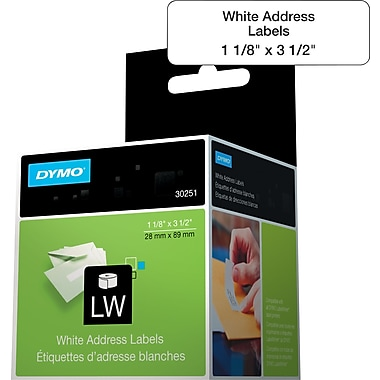 DYMO® LabelWriter Address Labels, 1-1/8