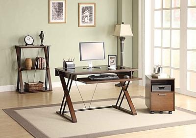 Whalen 174 Astoria Computer Desk Brown Cherry Staples