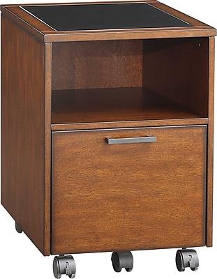 Whalen® Astoria File Cart, Brown Cherry