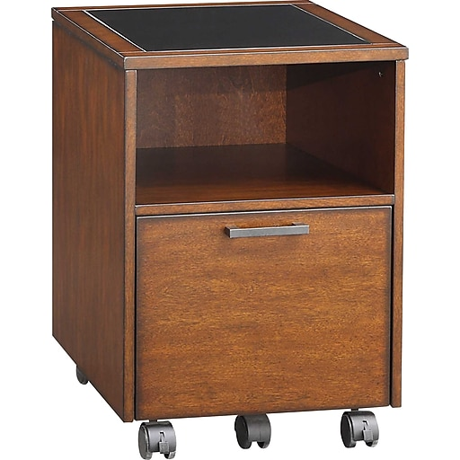 Whalen Astoria File Cart (Brown Cherry)
