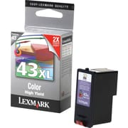 Lexmark 43XL Colour Ink Cartridge, High-Yield (18Y0143)