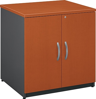 Bush Business Furniture Westfield 30W Storage Cabinet, Auburn Maple, Installed (WC48596AFA)
