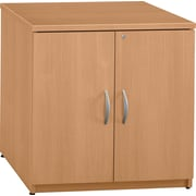 Bush Business Westfield 30W Storage Cabinet, Danish Oak, Installed