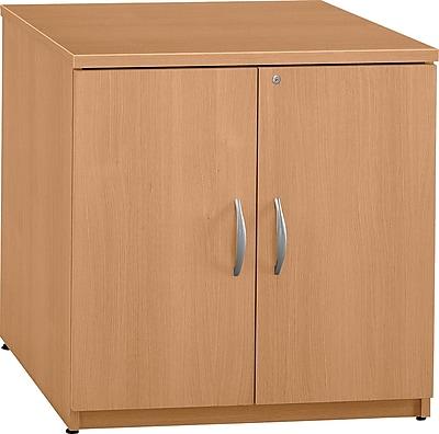 Bush Business Furniture Westfield 30W Storage Cabinet, Light Oak, Installed (WC60396AFA)