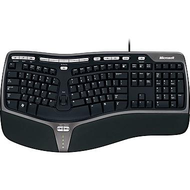 Microsoft Natural Ergonomic Keyboard 4000, Ergonomic Wired Keyboard, Black (B2M-00012)