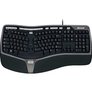 Microsoft®  Natural Ergonomic Keyboard 4000, Ergonomic Wired Keyboard, Black (B2M-00012)