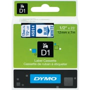 "DYMO® D1 Labels, 1/2"", Blue on White"