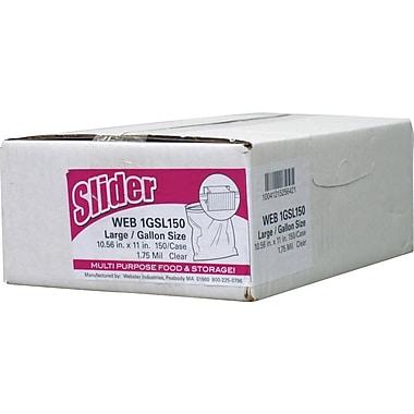 Webster Handi-Bag® Gallon Slider Storage Bags, Clear, 10 1/2