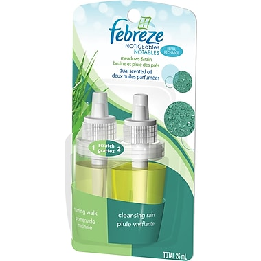 Febreze® NOTICEables Dual Scented Oil Warmer Refill, Morning Walk/Cleansing Rain