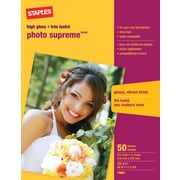 "Staples® Photo Supreme Paper, Glossy, 8-1/2"" x 11"", 50/Pack"