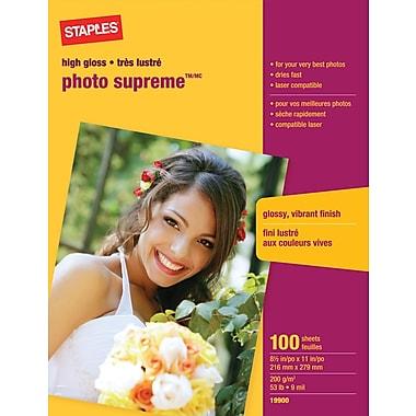 StaplesR Photo Supreme Paper 8 1 2