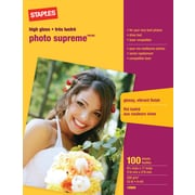 "Staples® Photo Supreme Paper, 8 1/2"" x 11"", Gloss, 100/Pack"