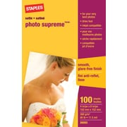 Staples® - Papier photo Supreme, satiné, 4 po x 6 po, paq./100