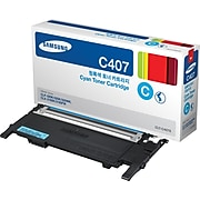 Samsung CLT-C407 Cyan Standard Yield Toner Cartridge (SU001A)