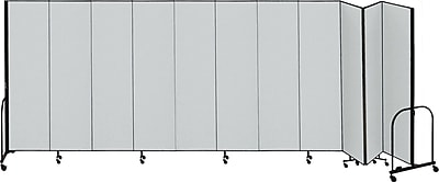 Screenflex Portable Room Divider, Gray, 8'H x 20' 5