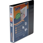 "Stride® Quick-Fit® 87011 Slant D-Ring View Binder, 1"", Black"