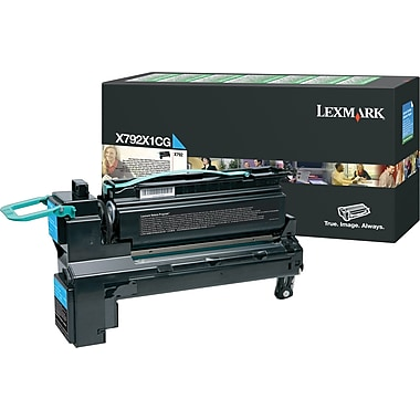 Lexmark X792 Cyan Return Program Print Cartridge, Extra High Yield (X792X1CG)