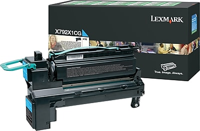 Lexmark Cyan Toner Cartridge (X792X1CG), Extra High Yield, Return Program