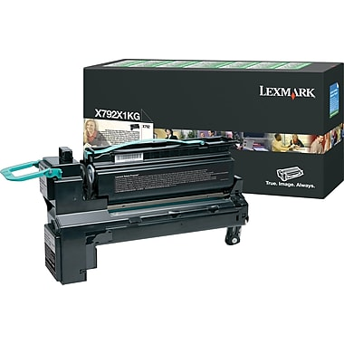Lexmark Black Toner Cartridge (X792X1KG), Extra High Yield, Return Program