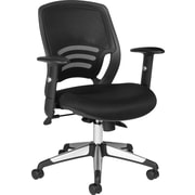 Global Fabric Managers Office Chair, Adjustable Arms, Black (OTG11686-QL10)