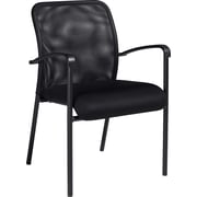 Global® Luxhide Mesh Guest Chair, Black