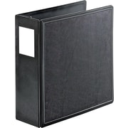 "Cardinal® EasyOpen® Superlife™ 4"" D-Ring Binder, Non-View, Black, 3-Ring"