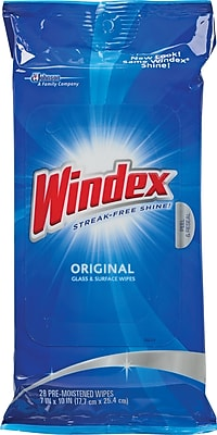 Windex® Cleaner Wipes, 28 Wipes/Pack