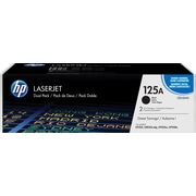 HP 125A (CB540AD) Black Original LaserJet Toner Cartridges, Multi-pack (2 cart per pack)