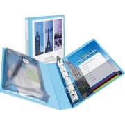 "Avery Mini Durable View Protect & Store Binder for 5-1/2"" x 8-1/2"" Pages with 1"" Rings, Blue (23014)"
