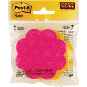 """Post-it® Super Sticky Notes Cube, 3"""" x 3"""", Flower and Apple Shapes, 2 Cubes/Pack (7350-FAMX)"""