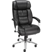 Staples Stanmore Top Grain Leather High-Back Executive Chair, Black