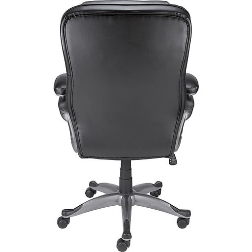 staples osgood bonded leather high back manager s chair black staples