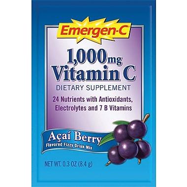 Emergen-C Vitamin C Drink Mix, Acai Berry, 0.3 oz., 50 Packets/Box