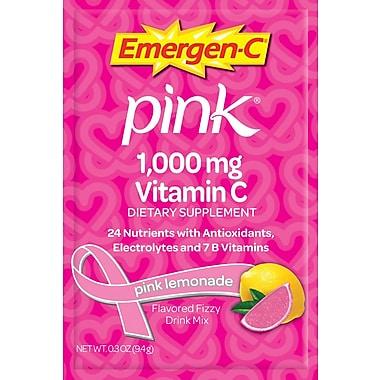 Emergen-C Vitamin C Drink Mix, Pink Lemonade, 0.3 oz., 50 Packets/Box