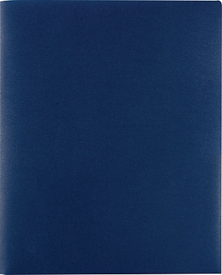 Staples® Poly 2-Pocket Folders, Dark Blue