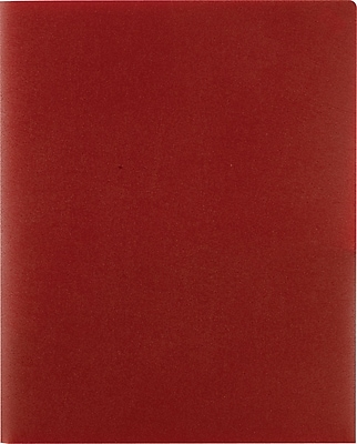 Staples Poly 2-Pocket Folders, Burgundy, Each (21636-CC/20634)
