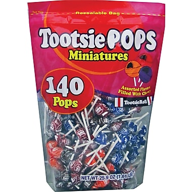 Tootsie Roll® Pop Miniatures, 140 Pops/Bag