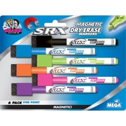 The Board Dudes™ Magnetic Low-Odor Dry-Erase Markers, 6/Pack