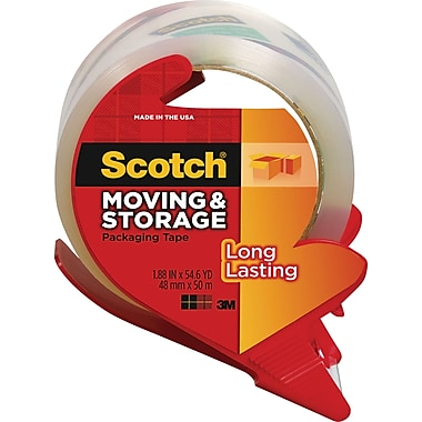 Scotch Long Lasting Moving & Storage Packing Tape with Dispenser, 1.88