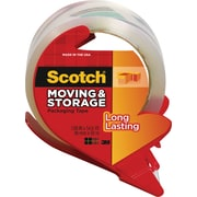 "Scotch Long Lasting Moving & Storage Packing Tape with Dispenser, 1.88"" x 54.6 yds, Clear, 1/Pack"