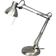 V-LIGHT Halogen Swing Arm Task Lamp, Brushed Nickel (VS407SN)