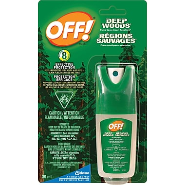 OFF!® Deep Woods Pump Spray Insect Repellent, Travel Size