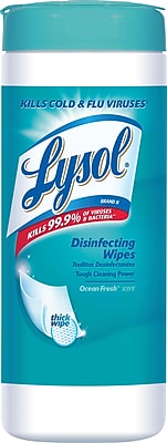 Lysol® Disinfecting Wipes, Ocean Fresh® Scent, 35 Wipes/Canister (81146)